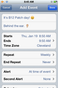 MANAGE FIBROMYALGIA ON YOUR IPHONE- FIVE TRICKS THAT COST NOTHING, B12 PATCH